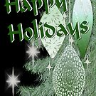 Happy Holidays Green Ornament Card by TLCGraphics