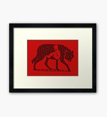 Hungry Like The Wolf Framed Print