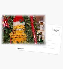A Very Merry Garfield Christmas Postcards