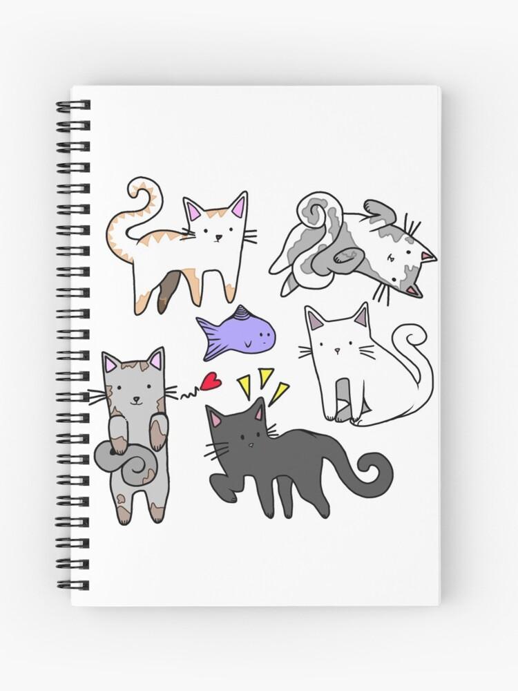 Mignons Chats De Dessin Animé Japonais Kawaii Cahier à Spirale