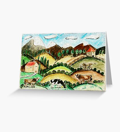 Cow Land Greeting Card