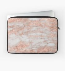 Martino rose gold marble Laptop Sleeve