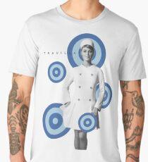 Stewardess Sharon Tate Blue Dots Men's Premium T-Shirt