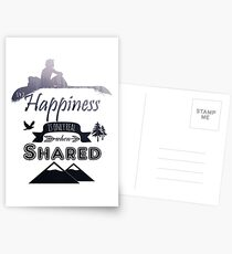 Into the Wild - Happiness is only real when Shared Postcards