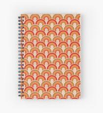 Retro red  Spiral Notebook