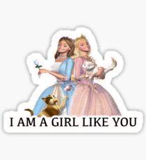 Barbie Princess and the Pauper Sticker