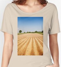 Ploughed agriculture field empty Women's Relaxed Fit T-Shirt