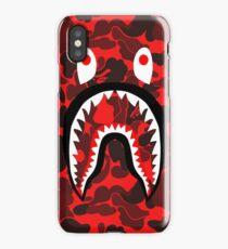 Red Shark XX Bape iPhone Case/Skin