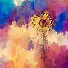Dandelion  in abstract color by GoldenRectangle