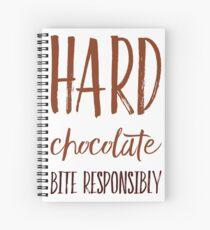 Hard Chocolate Bite Responsibly Spiral Notebook