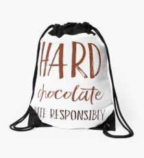 Hard Chocolate Bite Responsibly Drawstring Bag