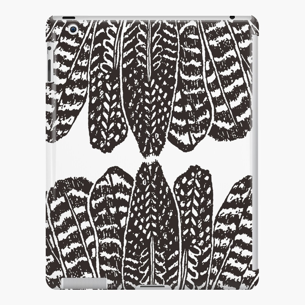 Tribal Feathers Black iPad Case & Skin