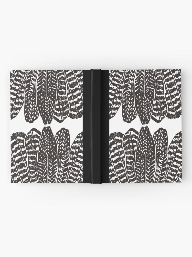 Alternate view of Tribal Feathers Black Hardcover Journal