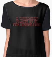 Rebellious Women (red, outline) Chiffon Top