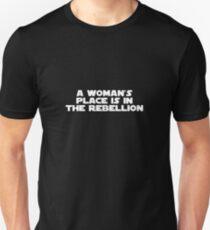 Rebellious Women (white, bold) Unisex T-Shirt