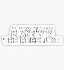 Rebellious Women (white, bold) Sticker