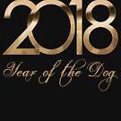 2018 Jahr des Hundetshirts Guten Rutsch ins Neue Jahr von Meditart Geld
