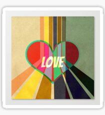 Love retro Sticker