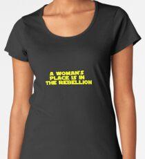 Rebellious Women (yellow, bold) Women's Premium T-Shirt