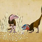 Lesser Bowertyrant (Gorgosaurus libratus) by Raven Amos
