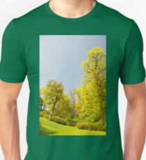 Green spring trees vibrant nature Unisex T-Shirt