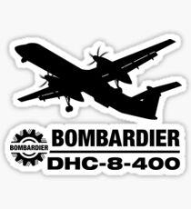 Bombardier DHC-8-400 (Q400) Silhouette (Black) Sticker