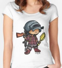 PUBG - Chibi Style Women's Fitted Scoop T-Shirt