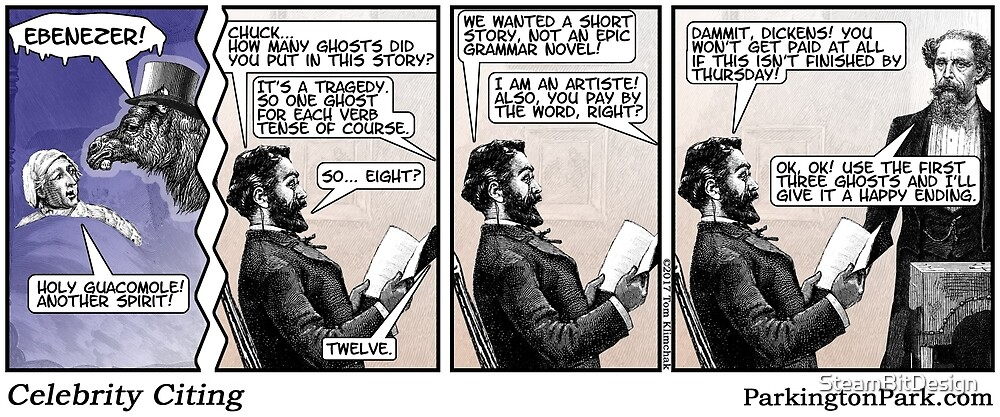 How Charles Dickens Really Wrote A Christmas Carol by SteamBitDesign