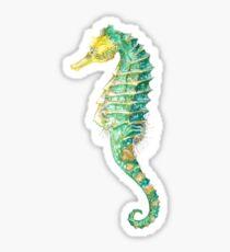 Spiny Green Seahorse Sticker