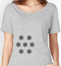 fire star psychedelic geometric art by TrippyNature Women's Relaxed Fit T-Shirt