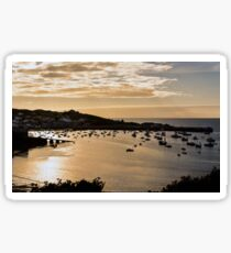 Town Beach Sunset,  Hugh Town, St Mary's, Isles of Scilly. Sticker