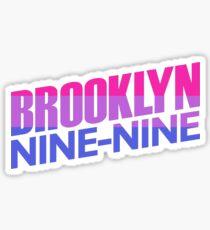 Brooklyn Nine Nine | Bi Flag Logo Sticker