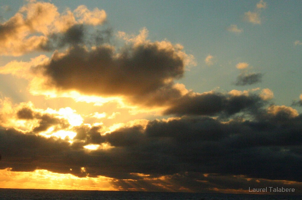 Sunset from Rarotonga, Cook Islands by Laurel Talabere