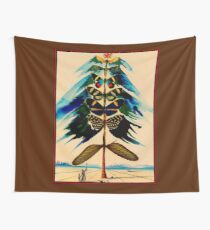 BUTTERFLY TREE : Vintage Abstract Dali Print Wall Tapestry