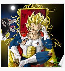 the prince super saiyanjin vegeta and ozaru version dragonball z 2018 Poster