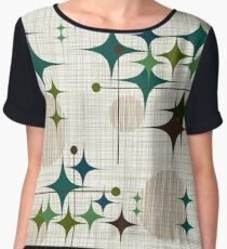 Eames Era Starbursts and Globes 1 (bkgrnd) Chiffon Top