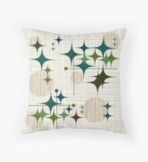 Eames Era Starbursts and Globes 1 (bkgrnd) Throw Pillow