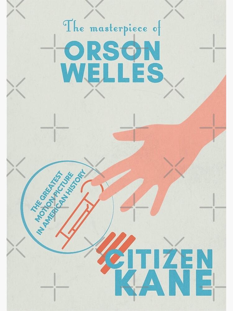 Decor Graphic Design movie Poster for film Citizen KANE.Orson Wells.American