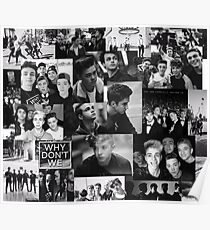 Why Don't We Black White Collage Poster