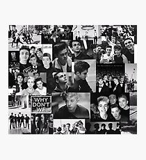 Why Don't We Black White Collage Photographic Print