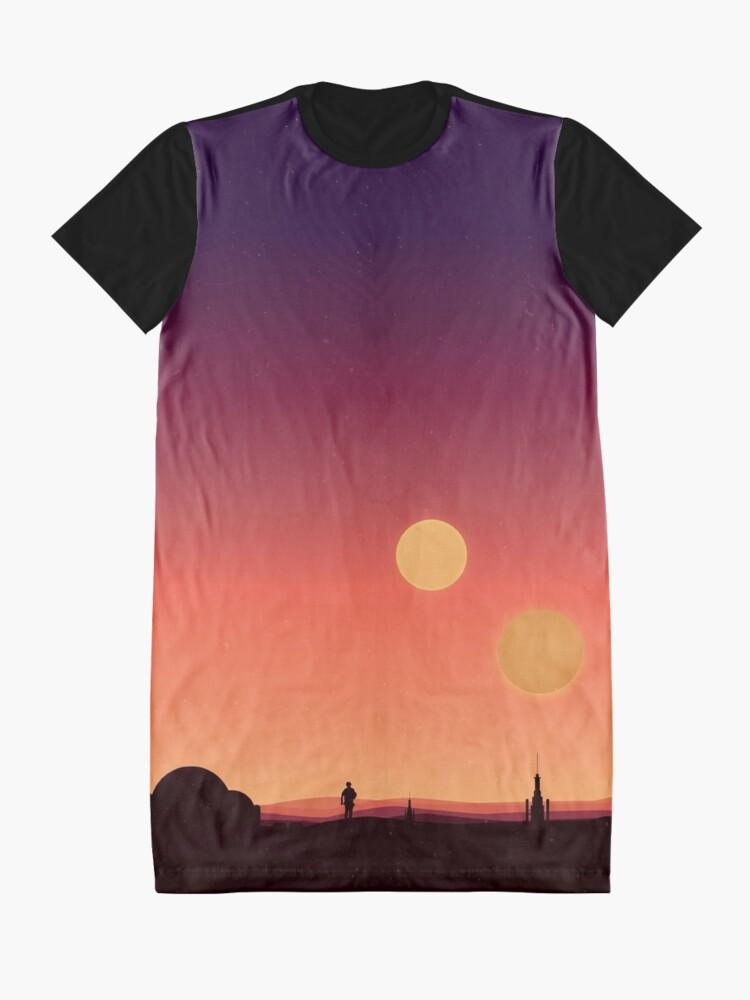 Alternative Ansicht von Tatooine T-Shirt Kleid