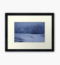 Country Snowstorm Photography Framed Print