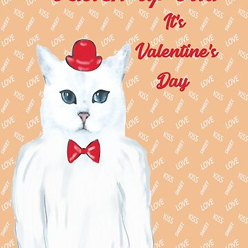 Card for Valentine's Day with Cool Cat by posyrosie