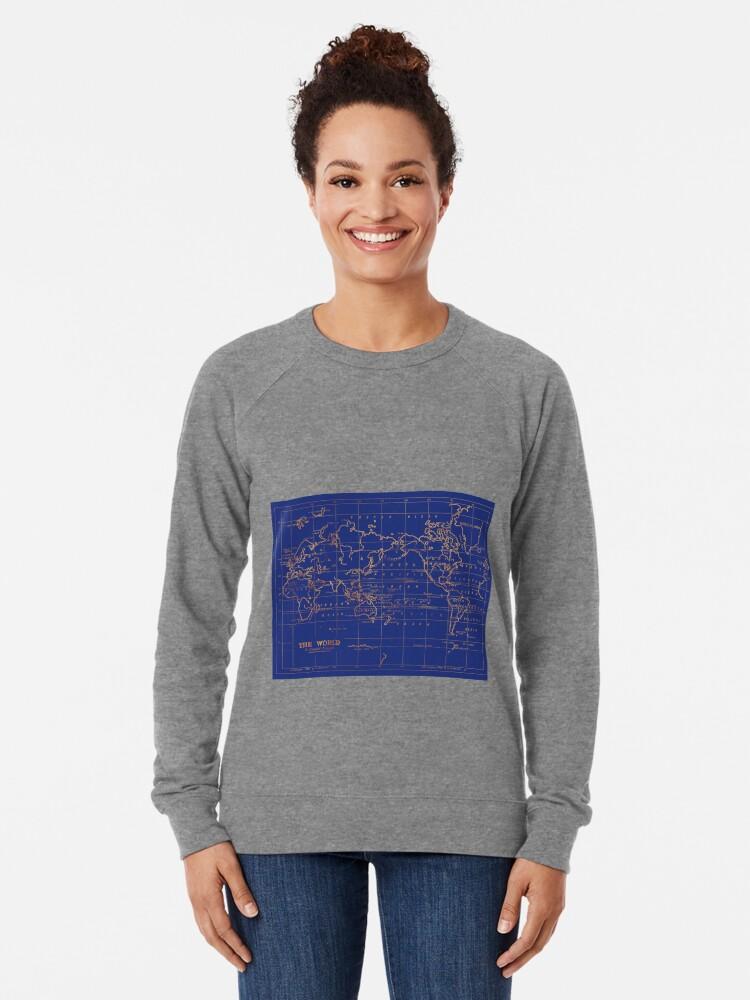 Alternative Ansicht von Weltkarte Leichter Pullover