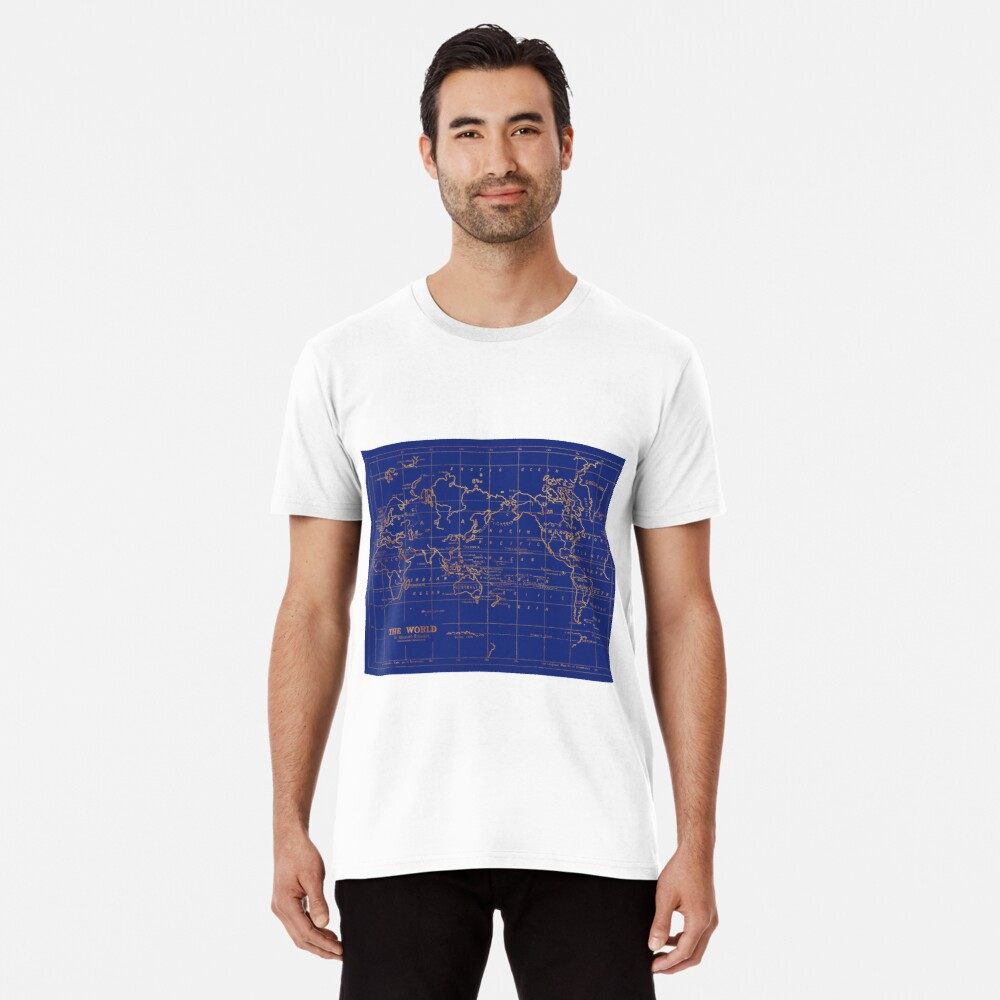 Weltkarte Premium T-Shirt