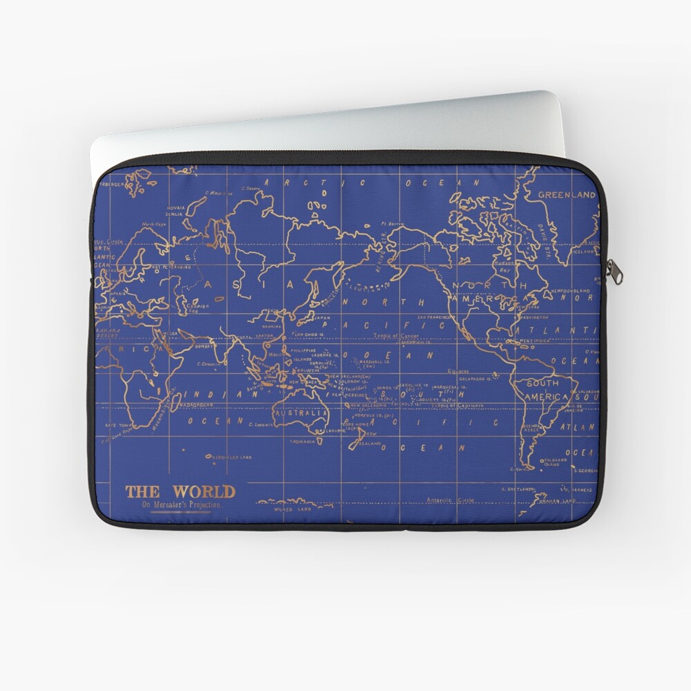 Weltkarte Laptoptasche