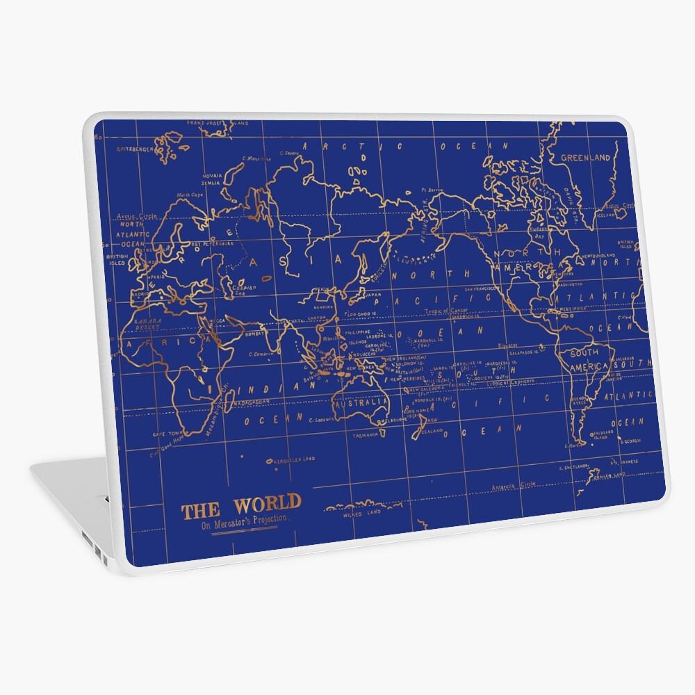 Weltkarte Laptop Folie