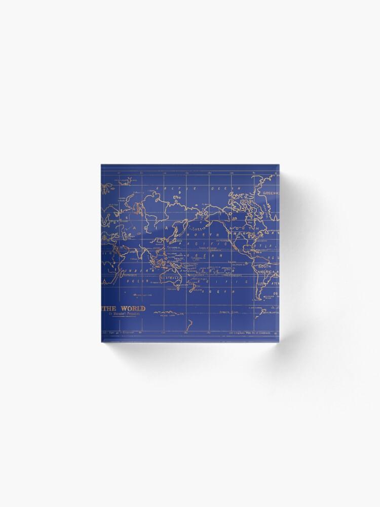Alternative Ansicht von Weltkarte Acrylblock