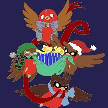 Go!Robins! - Santa's Little Helpers by yolinart