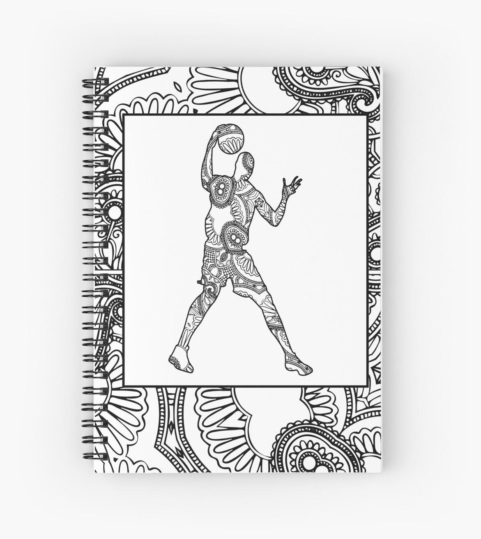 Cuadernos de espiral «Hoop Dreams 26 - Diseño de libro de colorear ...